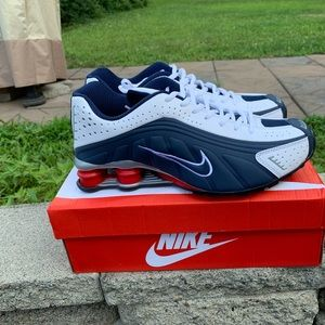 Nike Shox R4 Red, White and Blue